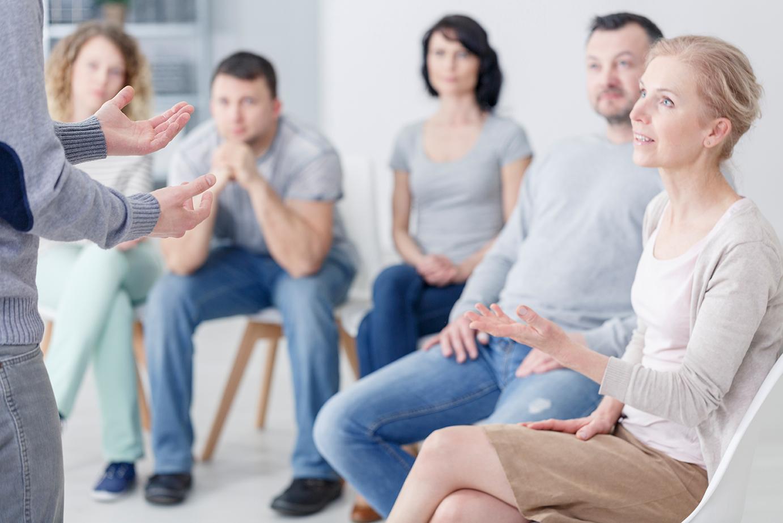 Groep tijdens klachtenbemiddeling